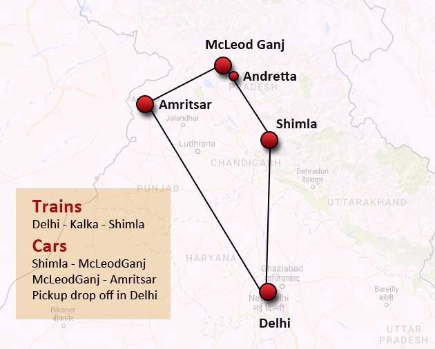 Itinerary-HillStationAmritsarTour