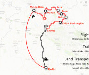 Spiti Valley Tour 2018 Route Map